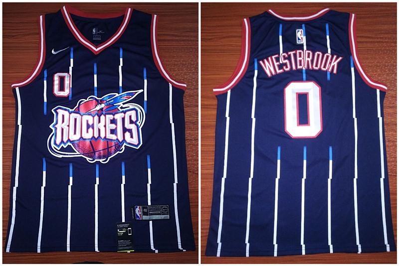 Rockets 0 Russell Westbrook Blue Nike Swingman Jersey