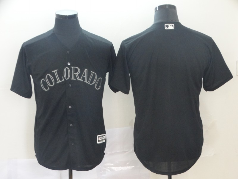 Rockies Blank Black 2019 Players' Weekend Authentic Player Jersey