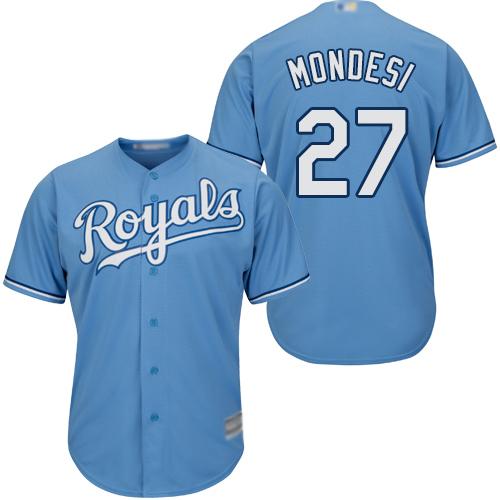 Royals #27 Raul Mondesi Light Blue Cool Base Stitched Youth Baseball Jersey