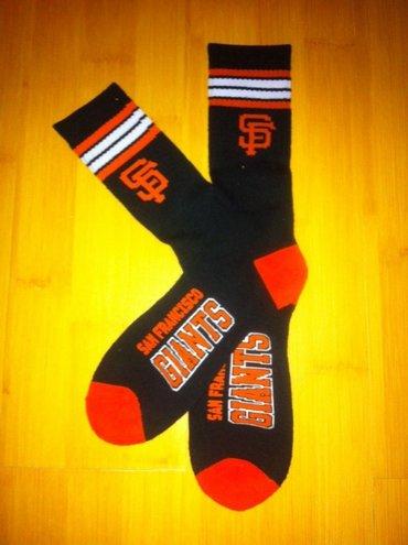 SF Giants Team Logo Black Blue MLB Socks