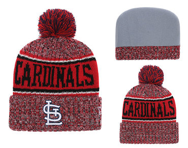 SL Cardinals Fresh Logo Red Cuffed Knit Hat With Pom YD