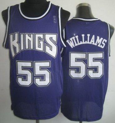 save off 0a76b c4bd1 Sacramento Kings 55 Jason Williams Black Revolution 30 NBA ...