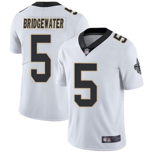 Saints #5 Teddy Bridgewater White Men's Stitched Football Vapor Untouchable Limited Jersey