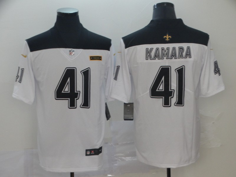 Saints 41 Alvin Kamara White City Edition Vapor Untouchable Limited Jersey