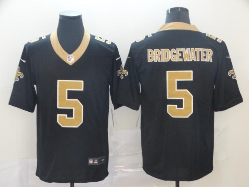 Saints 5 Teddy Bridgewater Black Vapor Untouchable Limited Jesey