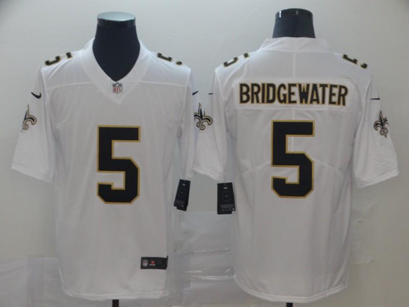 Saints 5 Teddy Bridgewater White Vapor Untouchable Limited Jesey