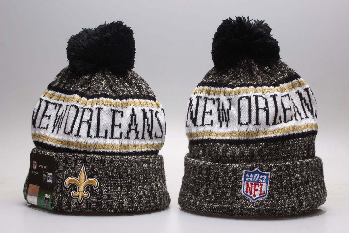 Saints Black 2018 NFL Sideline Cold Weather Knit Hat YP