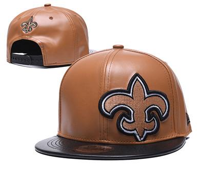 Saints Team Logo Cream Leather Adjustable Hat GS