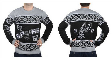 San Antonio Spurs Men''s NBA Ugly Sweater