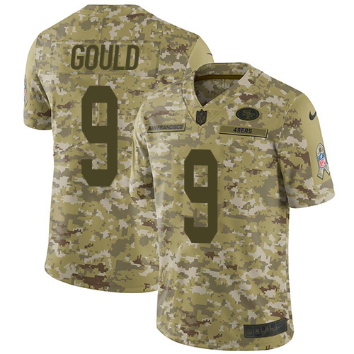San Francisco 49ers #9 Robbie Gould Nike NFL Sault to service Jersey