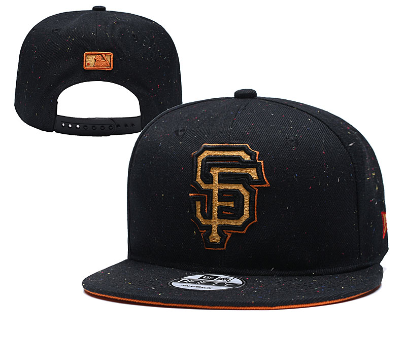 San Francisco Giants Team Gold Logo Black Adjustable Hat YD
