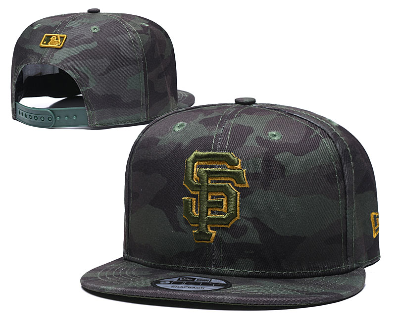 San Francisco Giants Team Logo Camo Adjustable Hat TX