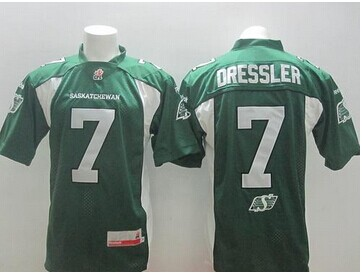Saskatchewan Roughriders #7 Weston Dressler Green Stitched CFL Jersey