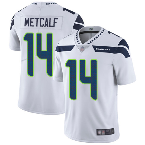 Seahawks #14 D.K. Metcalf White Men's Stitched Football Vapor Untouchable Limited Jersey