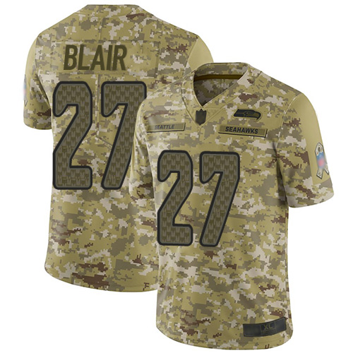Seahawks #27 Marquise Blair Camo Men's Stitched Football Limited 2018 Salute To Service Jersey
