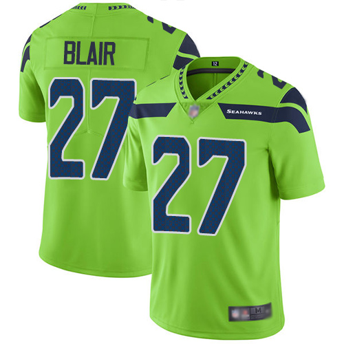 Seahawks #27 Marquise Blair Green Men's Stitched Football Limited Rush Jersey