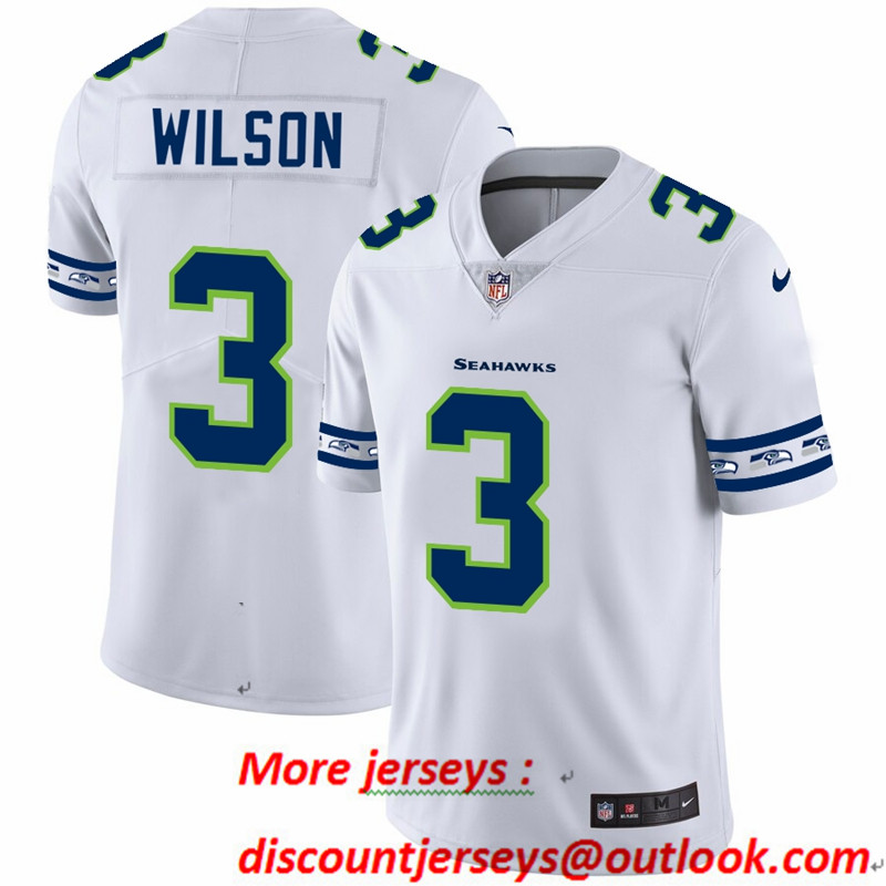 Seahawks 3 Russell Wilson White 2019 New Vapor Untouchable Limited Jersey