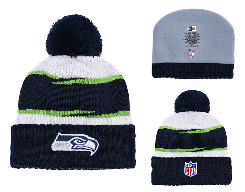 Seahawks Fresh Logo Navy Knit Hat YD