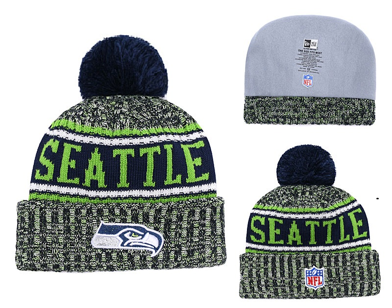 Seahawks Team Logo Green Knit Hat YD