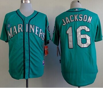 Seattle Mariners #16 Austin Jackson Green Alternate Cool Base Stitched MLB Jersey