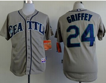 Seattle Mariners #24 Ken Griffey Stitched Grey Cool Base MLB Jersey