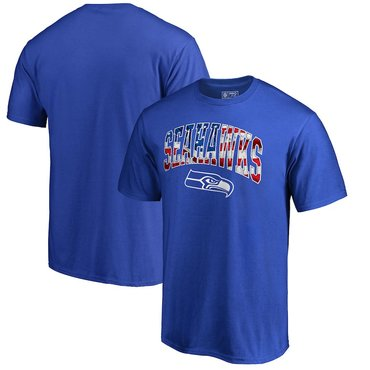 Seattle Seahawks NFL Pro Line By Fanatics Branded Banner Wave Big & Tall T-Shirt Royal