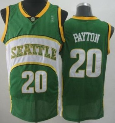 Seattle SuperSonics 20 Gary Payton Green Throwback Revolution 30 NBA Basketball Jerseys