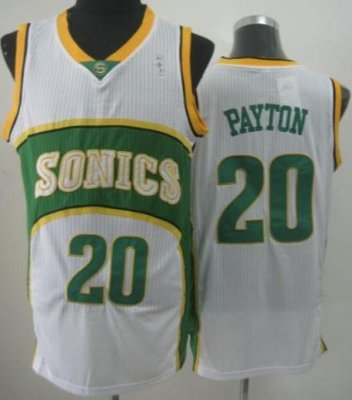 Seattle SuperSonics 20 Gary Payton White Throwback Revolution 30 NBA Basketball Jerseys