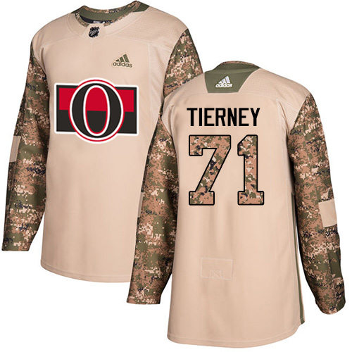 Senators #71 Chris Tierney Camo Authentic 2017 Veterans Day Stitched Hockey Jersey
