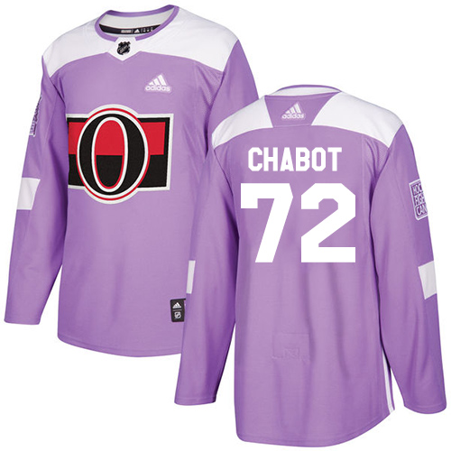 Senators #72 Thomas Chabot Purple Authentic Fights Cancer Stitched Hockey Jersey