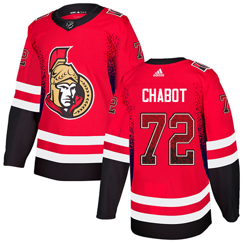 Senators #72 Thomas Chabot Red Home Authentic Drift Fashion Stitched Hockey Jersey