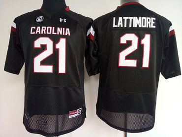 South Carolina Gamecocks 21 Marcus Lattimore Black College Football Jersey