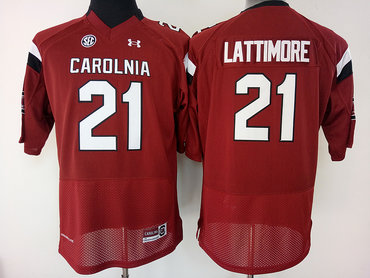South Carolina Gamecocks 21 Marcus Lattimore Red College Football Jersey
