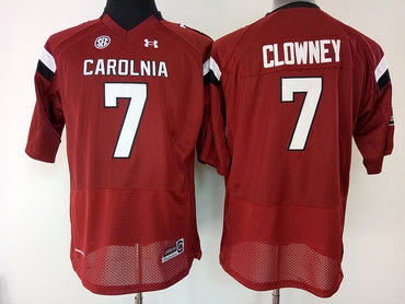 South Carolina Gamecocks 7 Jadeveon Clowney Red College Football Jersey