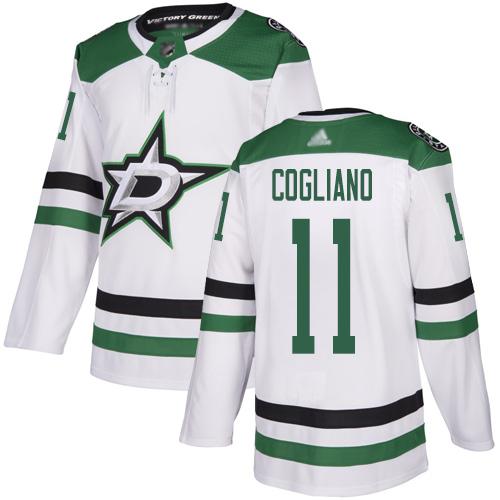 Stars #11 Andrew Cogliano White Road Authentic Stitched Hockey Jersey