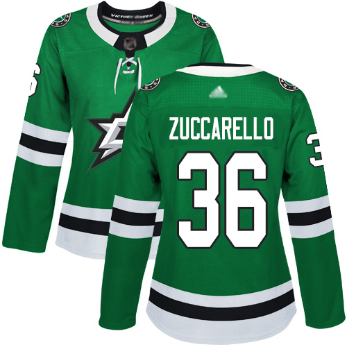 Stars #36 Mats Zuccarello Green Home Authentic Women's Stitched Hockey Jersey