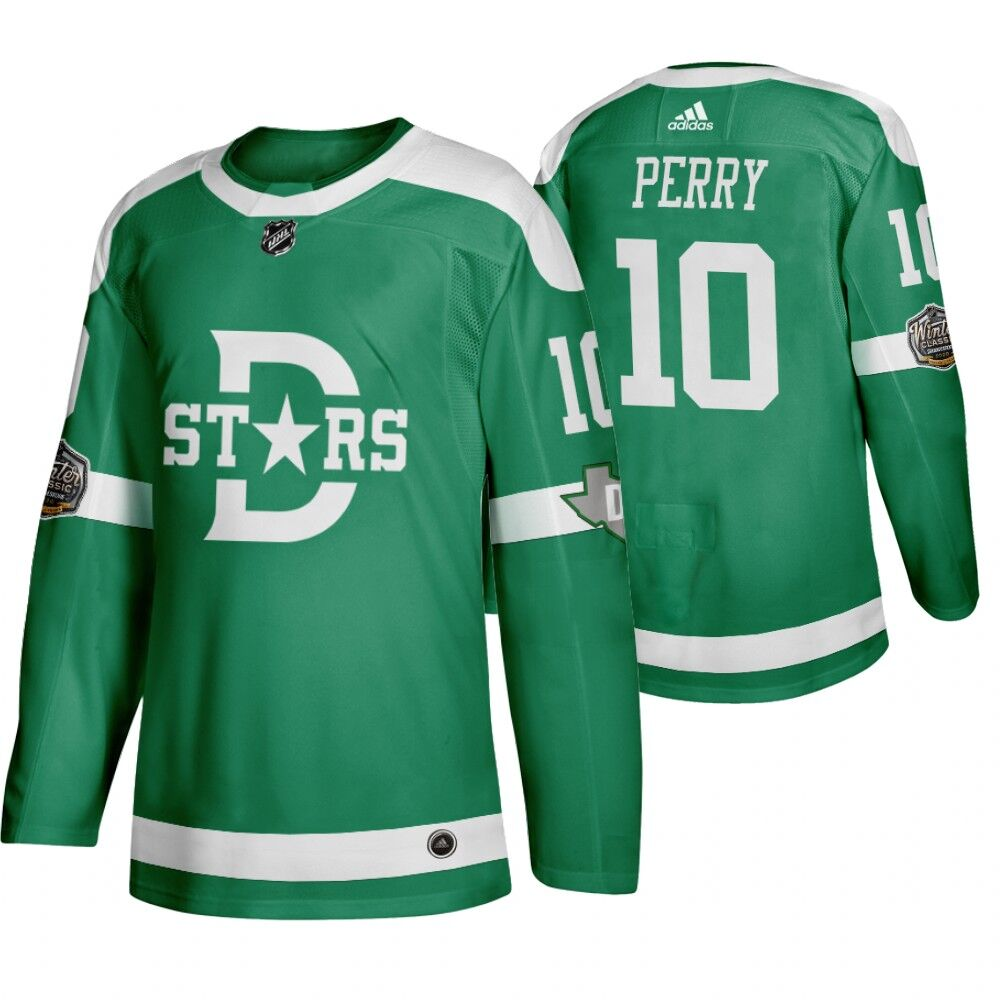 Stars 10 Corey Perry Green 2020 Winter Classic Adidas Jersey