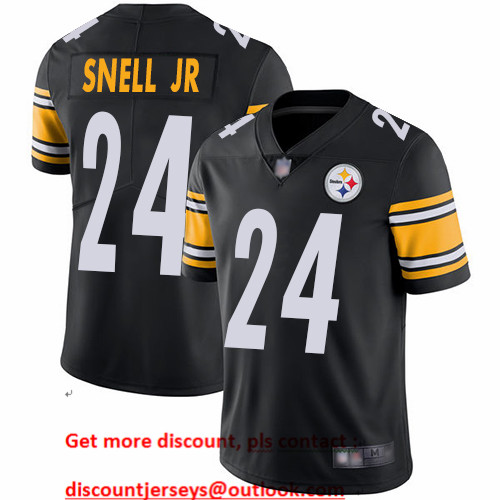 Steelers #24 Benny Snell Jr. Black Team Color Men's Stitched Football Vapor Untouchable Limited Jersey