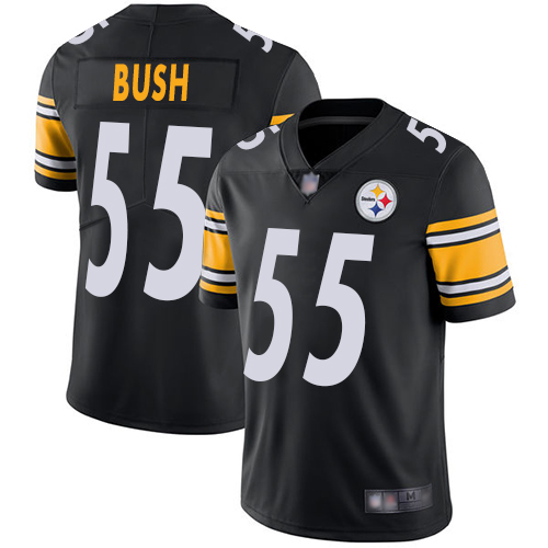 Steelers #55 Devin Bush Black Team Color Youth Stitched Football Vapor Untouchable Limited Jersey