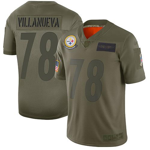Steelers #78 Alejandro Villanueva Camo Men's Stitched Football Limited 2019 Salute To Service Jersey