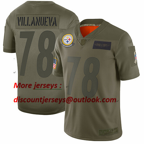 Steelers #78 Alejandro Villanueva Camo Youth Stitched Football Limited 2019 Salute to Service Jersey