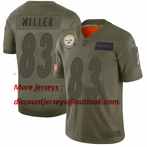 Steelers #83 Heath Miller Camo Youth Stitched Football Limited 2019 Salute to Service Jersey