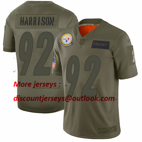Steelers #92 James Harrison Camo Youth Stitched Football Limited 2019 Salute to Service Jersey