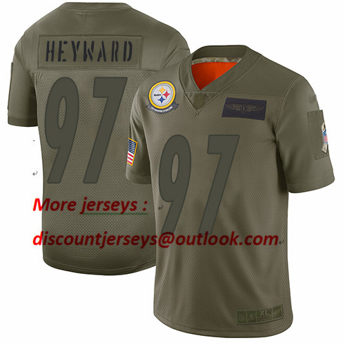 Steelers #97 Cameron Heyward Camo Youth Stitched Football Limited 2019 Salute to Service Jersey