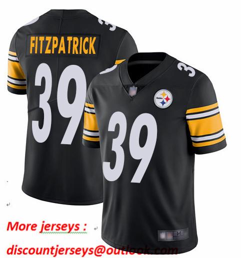 Steelers 39 Minkah Fitzpatrick Black Vapor Untouchable Limited Jersey