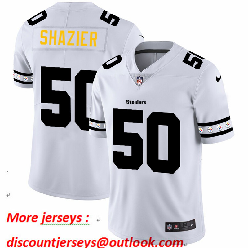 Steelers 50 Ryan Shazier White 2019 New Vapor Untouchable Limited Jersey