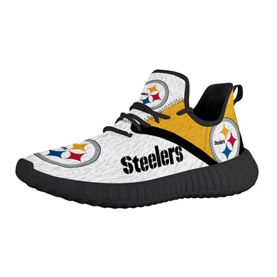 Steelers Mesh Knit Sneakers White