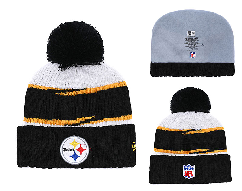 Steelers Team Logo Black Knit Hat YD