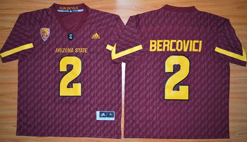 Sun Devils #2 Mike Bercovici New Red Stitched NCAA Jersey