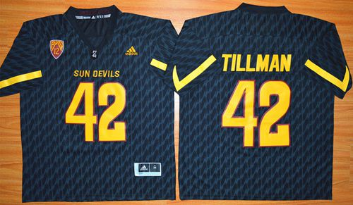 Sun Devils #42 Pat Tillman New Black Stitched NCAA Jersey